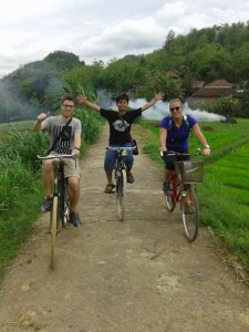 cycling tour around the village is very nice.